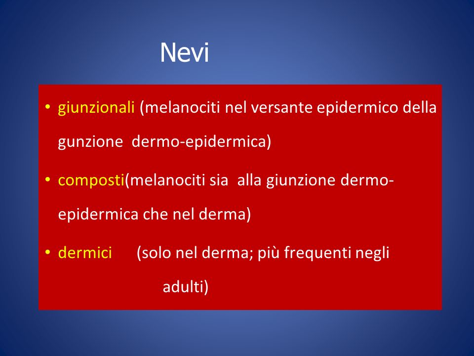 SISTEMI DI VALUTAZIONE A-B-C-D SCORE 7 POINT CHECKLIST CONSESUS MEETING 7 FEATURES PER MELANOMA