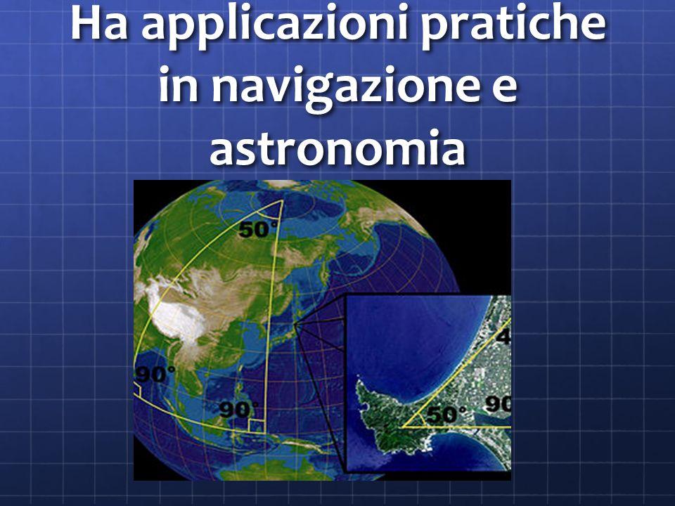 Ha applicazioni pratiche in navigazione e astronomia