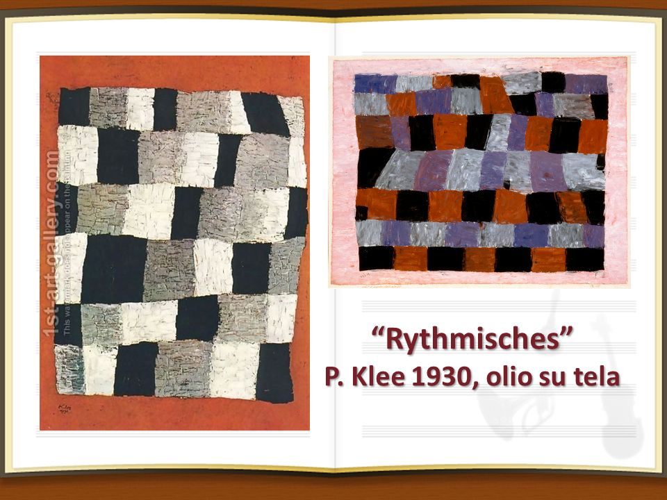 Rythmisches P. Klee 1930, olio su tela Rythmisches P. Klee 1930, olio su tela
