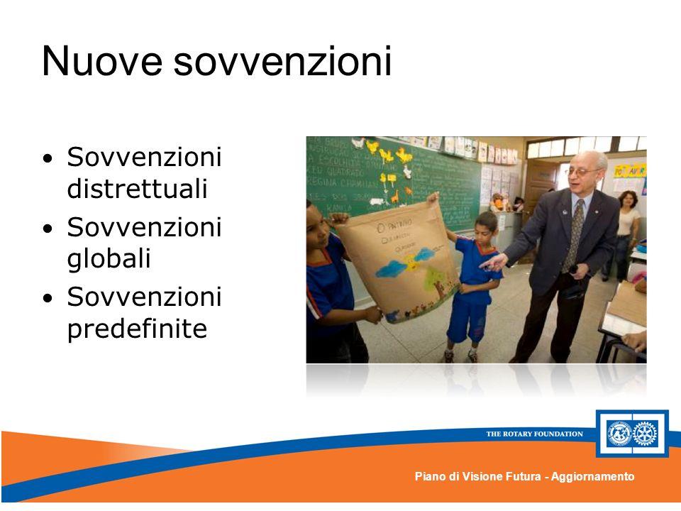 Piano di Visione Futura - Aggiornamento Nuove sovvenzioni Sovvenzioni distrettuali Sovvenzioni globali Sovvenzioni predefinite