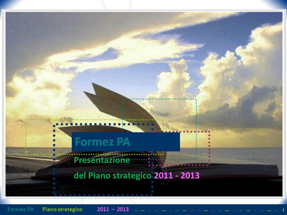 Formez PAPiano strategico2011– 2013 …… … …… … …… … …… … …… … …… … …… … 1 Cavalcando i tempi Il piano 2011/2013 Formez PA Presentazione del Piano strategico 2011 - 2013