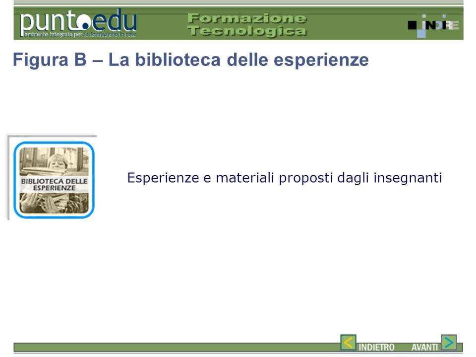 Esperienze e materiali proposti dagli insegnanti Figura B – La biblioteca delle esperienze