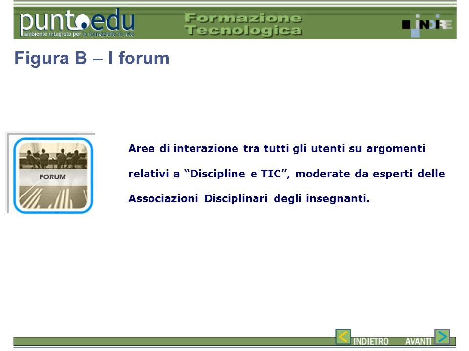 Aree di interazione tra tutti gli utenti su argomenti relativi a Discipline e TIC, moderate da esperti delle Associazioni Disciplinari degli insegnanti.