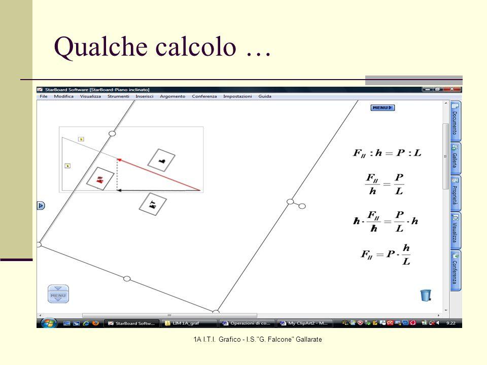 1A I.T.I. Grafico - I.S. G. Falcone Gallarate Qualche calcolo …