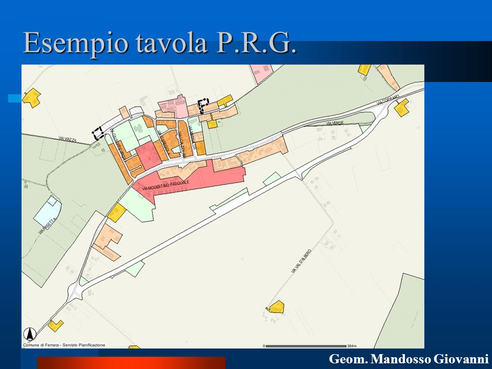 Esempio tavola P.R.G. Geom. Mandosso Giovanni