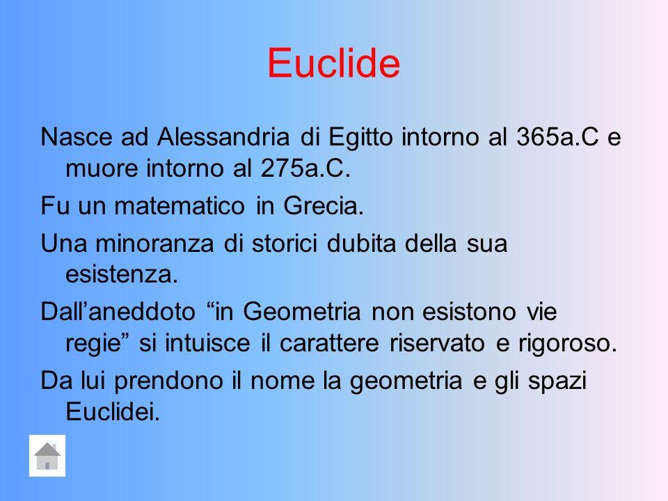 SOMMARIO EUCLIDEEUCLIDEEUCLIDE OpereOpereOpere Teoremi ed AssiomiTeoremi ed AssiomiTeoremi ed AssiomiTeoremi ed Assiomi Dal piano Euclideo al piano CartesianoDal piano Euclideo al piano CartesianoDal piano Euclideo al piano CartesianoDal piano Euclideo al piano Cartesiano CARTESIOCARTESIOCARTESIO OpereOpereOpere
