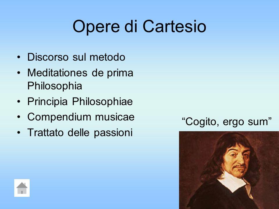 CARTESIO Nasce a La Haye in Turenna nel 1596 e muore nel 1650, colpito da una grave malattia polmonare.