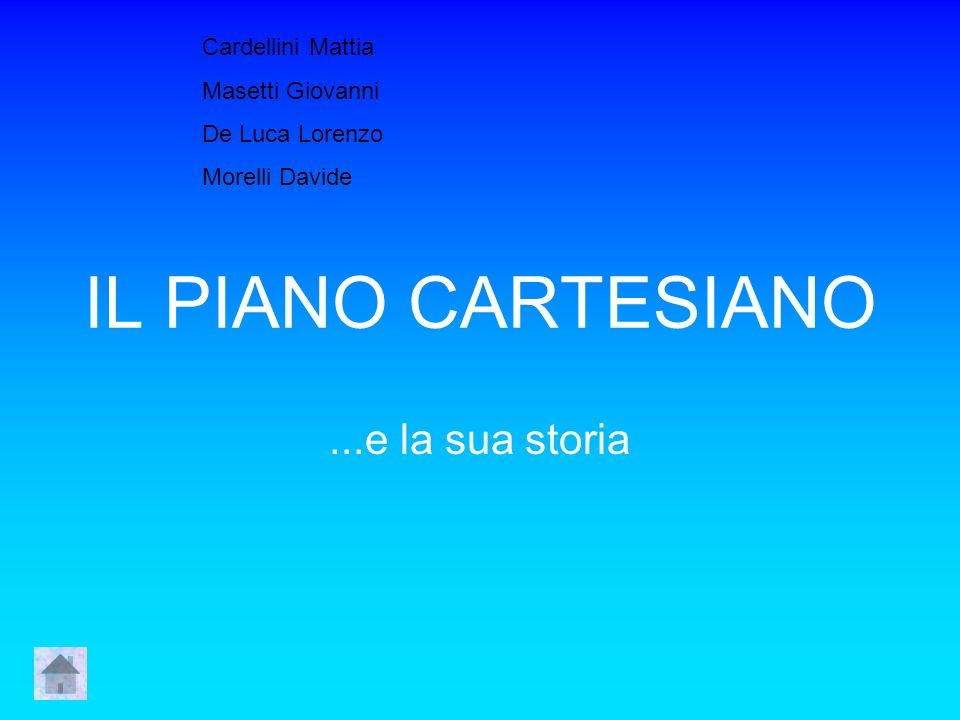 IL PIANO CARTESIANO...e la sua storia Cardellini Mattia Masetti Giovanni De Luca Lorenzo Morelli Davide