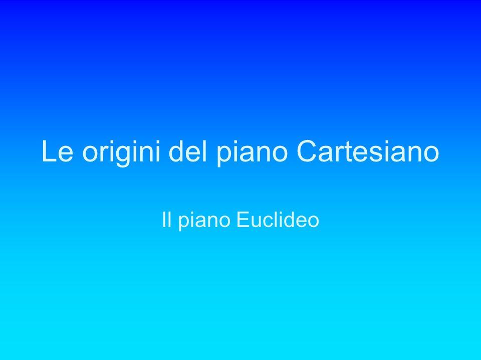 Le origini del piano Cartesiano Il piano Euclideo