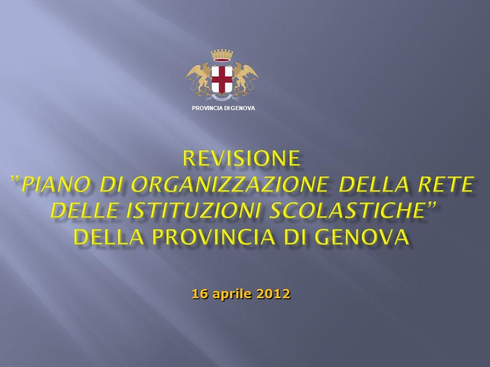 PROVINCIA DI GENOVA 16 aprile 2012