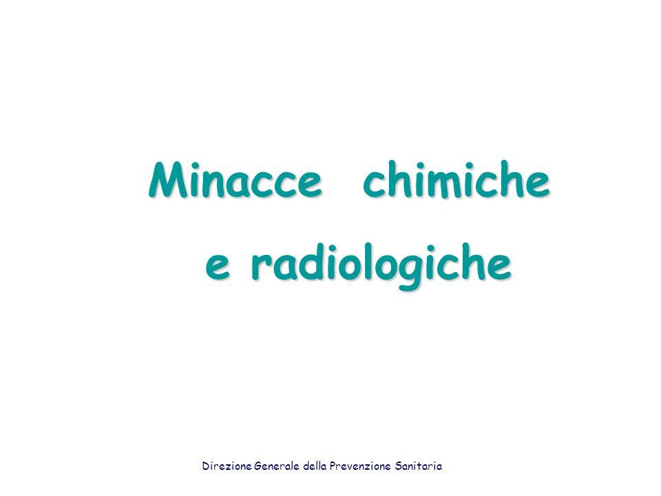 Minacce chimiche e radiologiche e radiologiche Direzione Generale della Prevenzione Sanitaria