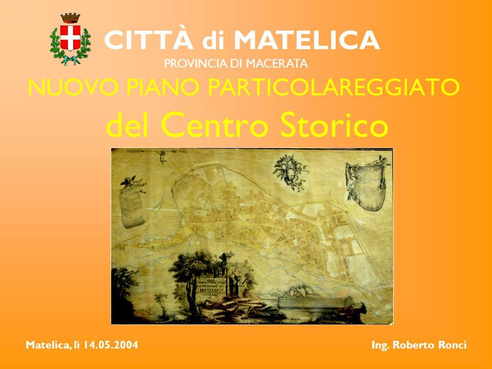 NUOVO PIANO PARTICOLAREGGIATO del Centro Storico CITTÀ di MATELICA PROVINCIA DI MACERATA Matelica, lì 14.05.2004Ing.