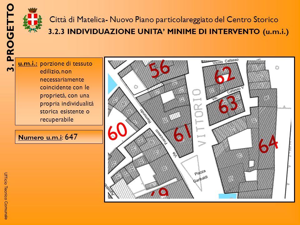 Ufficio Tecnico Comunale 3.2.3INDIVIDUAZIONE UNITA MINIME DI INTERVENTO (u.m.i.) Città di Matelica- Nuovo Piano particolareggiato del Centro Storico 3.