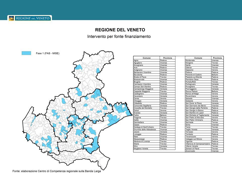 Seconda fase: la mappa degli interventi e i Comuni interessati