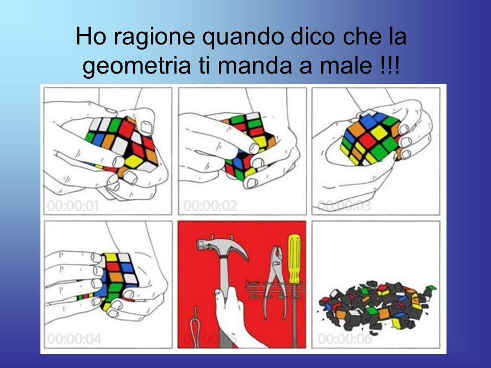 Ho ragione quando dico che la geometria ti manda a male !!!