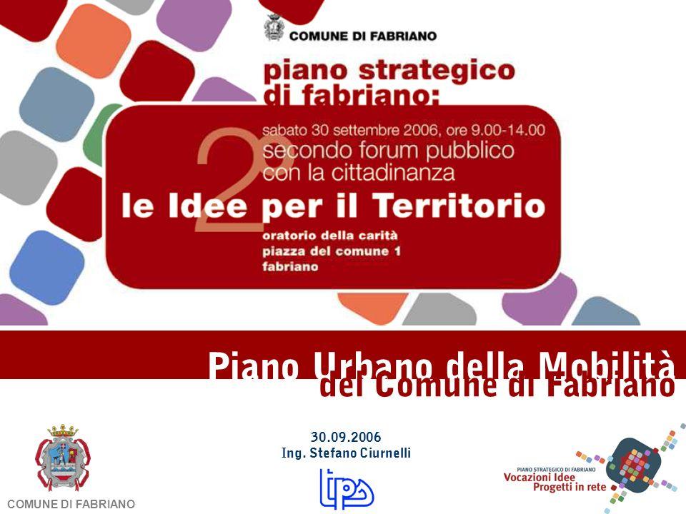 Piano Urbano della Mobilità del Comune di Fabriano 30.09.2006 Ing. Stefano Ciurnelli COMUNE DI FABRIANO