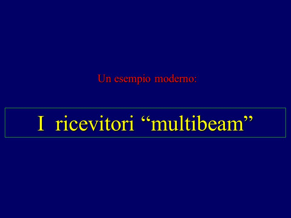 I ricevitori multibeam Un esempio moderno: