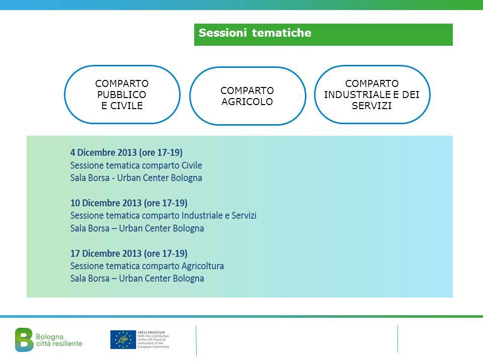 Il coinvolgimento degli StakeholderSessioni tematiche COMPARTO PUBBLICO E CIVILE COMPARTO AGRICOLO COMPARTO INDUSTRIALE E DEI SERVIZI
