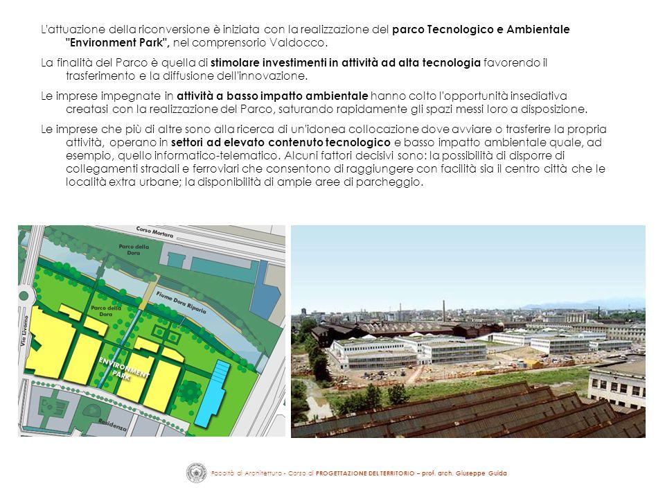 L'attuazione della riconversione è iniziata con la realizzazione del parco Tecnologico e Ambientale