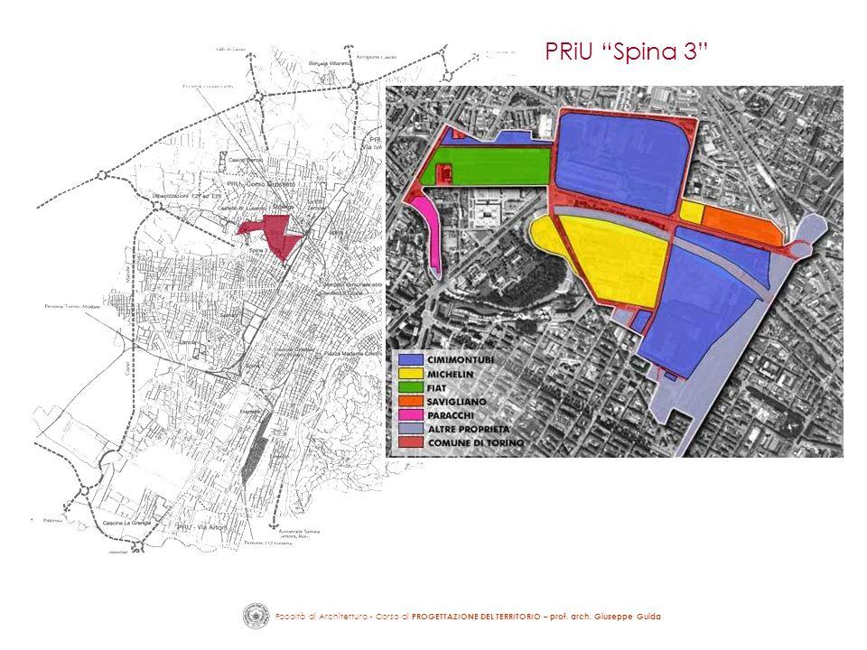 Facoltà di Architettura - Corso di PROGETTAZIONE DEL TERRITORIO – prof. arch. Giuseppe Guida PRiU Spina 3