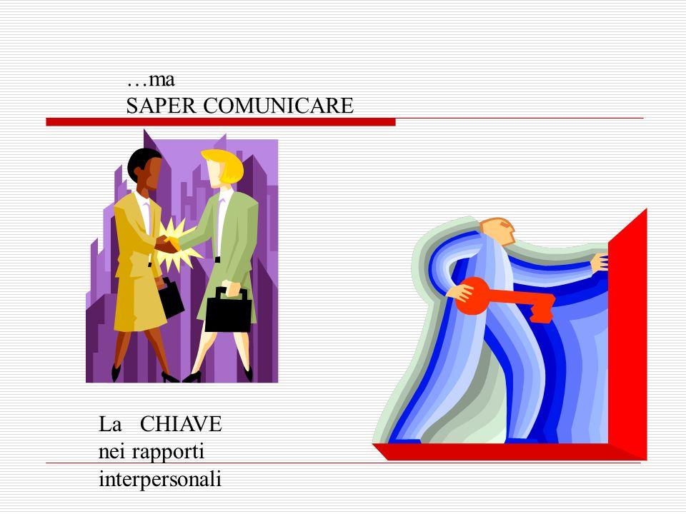 …ma SAPER COMUNICARE La CHIAVE nei rapporti interpersonali