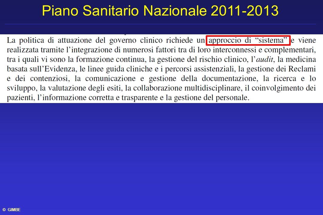 Piano Sanitario Nazionale 2011-2013 © GIMBE
