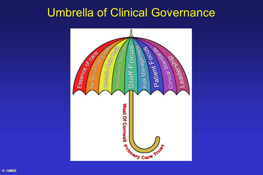 Umbrella of Clinical Governance © GIMBE