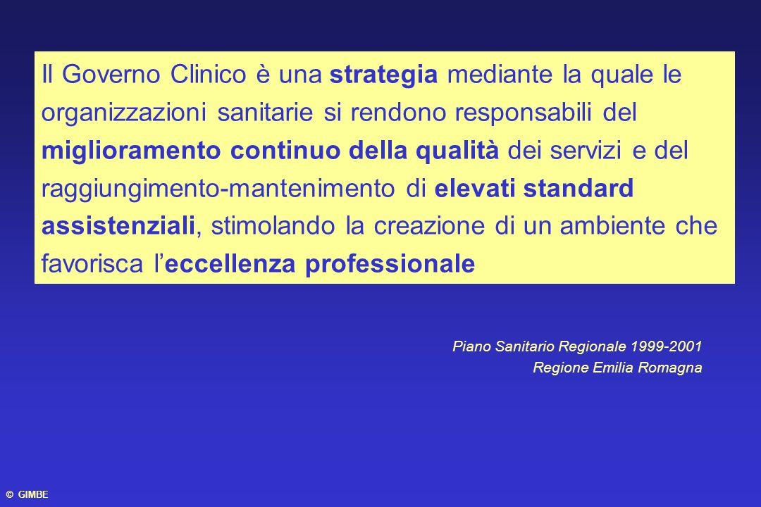 Il Governo Clinico è una strategia mediante la quale le organizzazioni sanitarie si rendono responsabili del miglioramento continuo della qualità dei