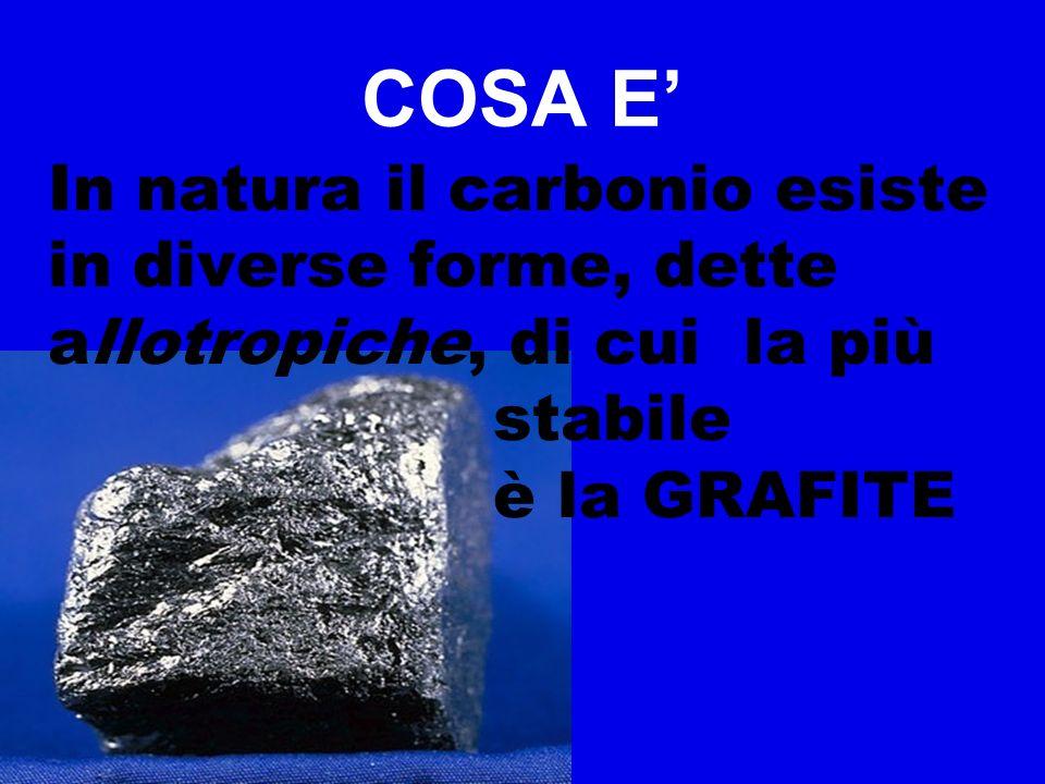 DUREZZA GRAFITE 1-1,5 (si scalfisce subito) DIAMANTE 10 È la sostanza più dura che esiste in natura