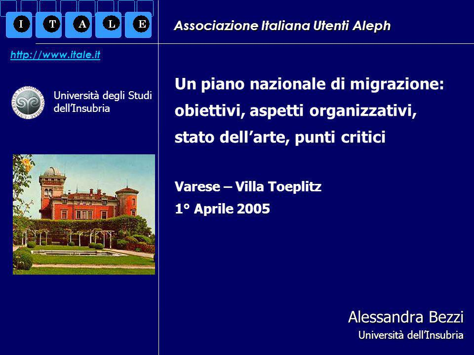 Varese, 01/04/2005Alessandra Bezzi12 Nuove versioni e processi di migrazione.