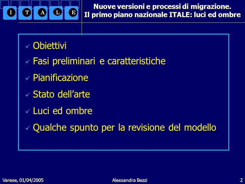 Varese, 01/04/2005Alessandra Bezzi3 Nuove versioni e processi di migrazione.