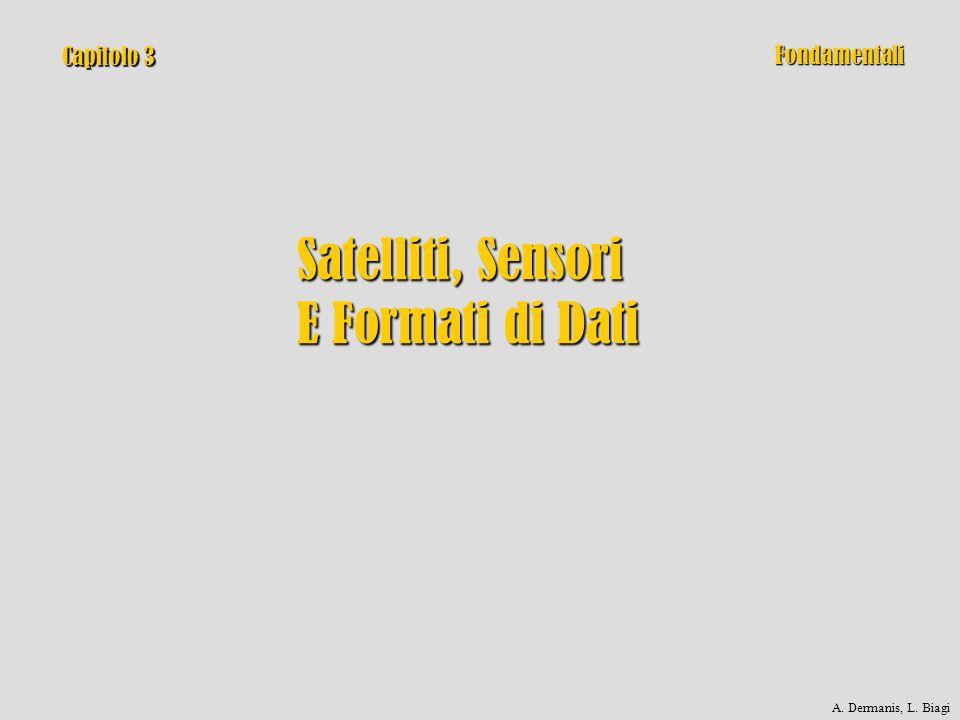 Capitolo 3 Satelliti, Sensori E Formati di Dati Fondamentali A. Dermanis, L. Biagi