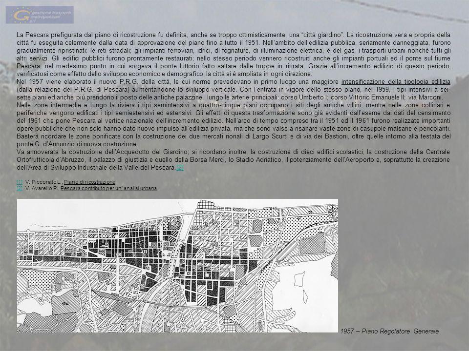 La Pescara prefigurata dal piano di ricostruzione fu definita, anche se troppo ottimisticamente, una città giardino. La ricostruzione vera e propria d