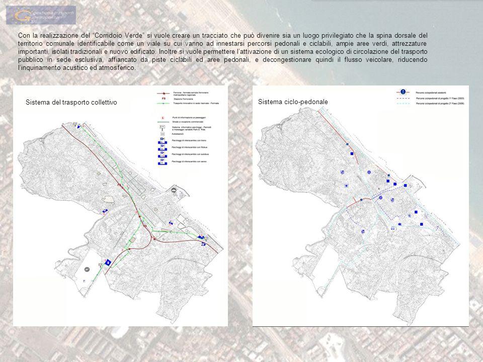 Con la realizzazione del Corridoio Verde si vuole creare un tracciato che può divenire sia un luogo privilegiato che la spina dorsale del territorio c