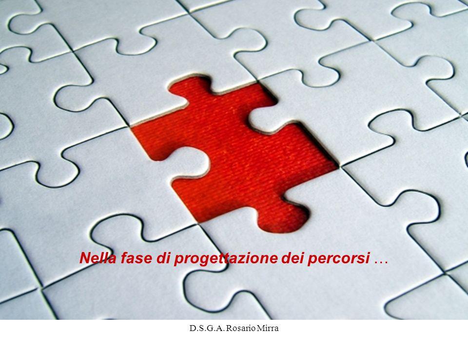 D.S.G.A. Rosario Mirra Nella fase di progettazione dei percorsi …