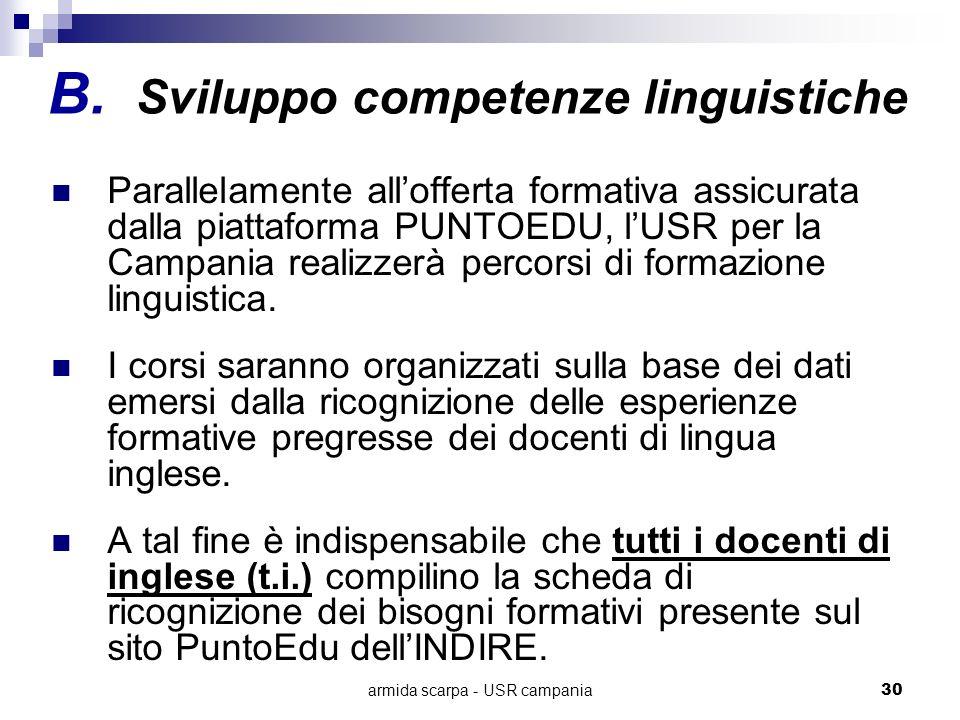 armida scarpa - USR campania30 Parallelamente allofferta formativa assicurata dalla piattaforma PUNTOEDU, lUSR per la Campania realizzerà percorsi di