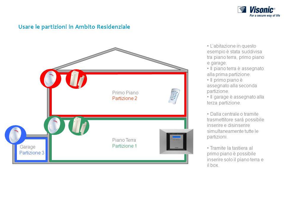 Partizione 2 Partizione 3 Partizione 1 Usare le partizioni in Ambito Residenziale Garage Primo Piano Piano Terra Labitazione in questo esempio è stata