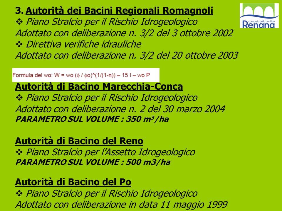 3.Autorità dei Bacini Regionali Romagnoli Piano Stralcio per il Rischio Idrogeologico Adottato con deliberazione n. 3/2 del 3 ottobre 2002 Direttiva v