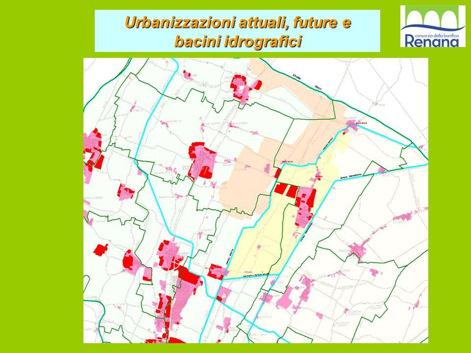 Urbanizzazioni attuali, future e bacini idrografici