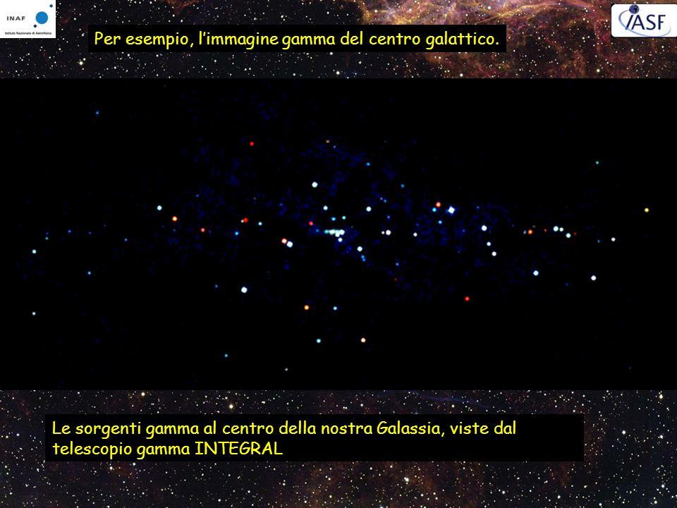 Per esempio, limmagine gamma del centro galattico. Le sorgenti gamma al centro della nostra Galassia, viste dal telescopio gamma INTEGRAL