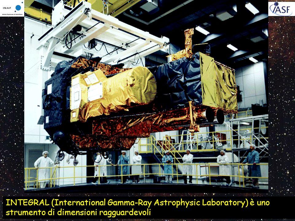 INTEGRAL (International Gamma-Ray Astrophysic Laboratory) è uno strumento di dimensioni ragguardevoli