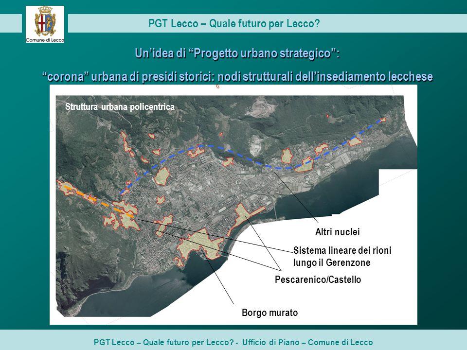 Struttura urbana policentrica PGT Lecco – Quale futuro per Lecco.