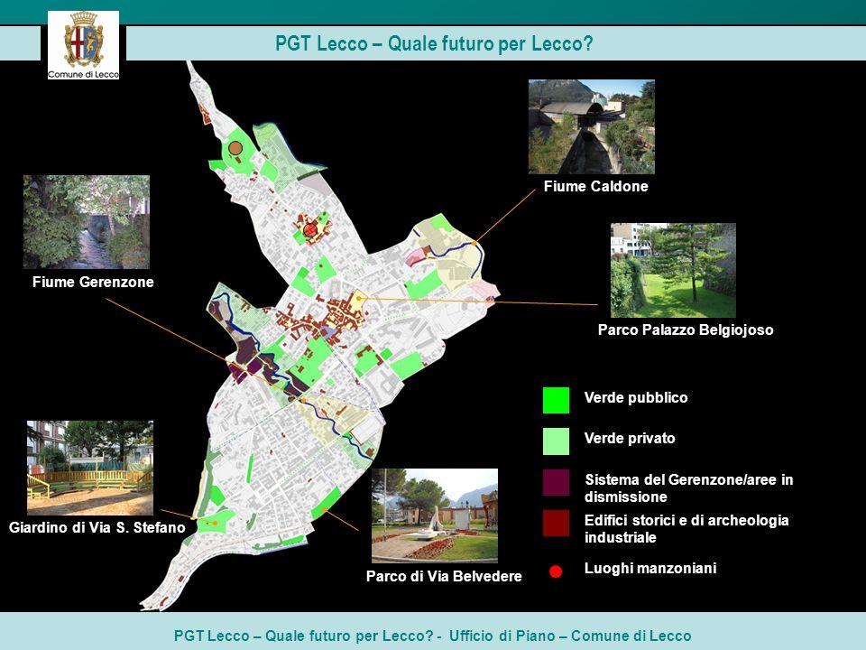 PGT Lecco – Quale futuro per Lecco? - Ufficio di Piano – Comune di Lecco PGT Lecco – Quale futuro per Lecco? Verde privato Verde pubblico Sistema del