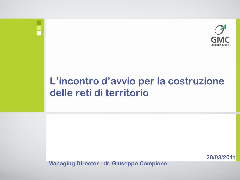 Lincontro davvio per la costruzione delle reti di territorio Managing Director - dr.