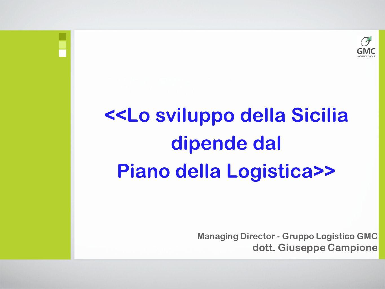 <<Lo sviluppo della Sicilia dipende dal Piano della Logistica>> Managing Director - Gruppo Logistico GMC dott.
