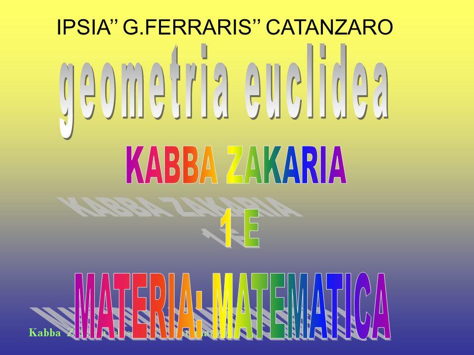 Kabba Zakaria classe 1 E - Matematica IPSIA G.FERRARIS CATANZARO