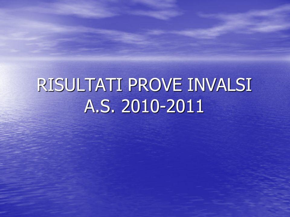 RISULTATI PROVE INVALSI A.S. 2010-2011
