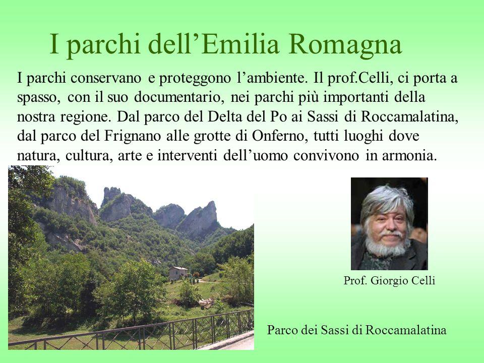 I parchi dellEmilia Romagna I parchi conservano e proteggono lambiente. Il prof.Celli, ci porta a spasso, con il suo documentario, nei parchi più impo