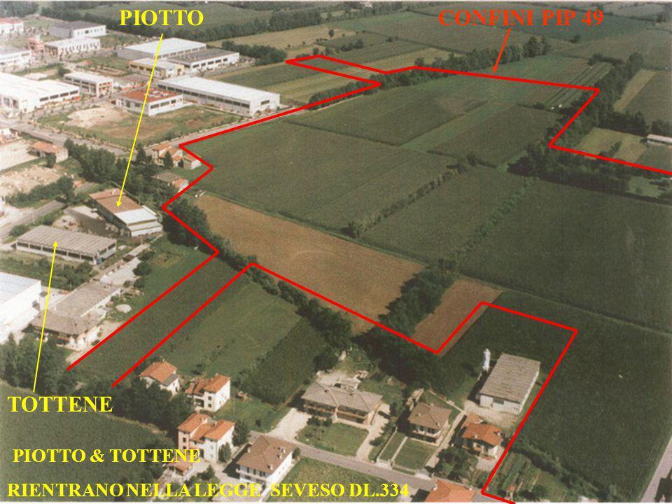 PIOTTO TOTTENE PIOTTO & TOTTENE RIENTRANO NELLA LEGGE SEVESO DL.334