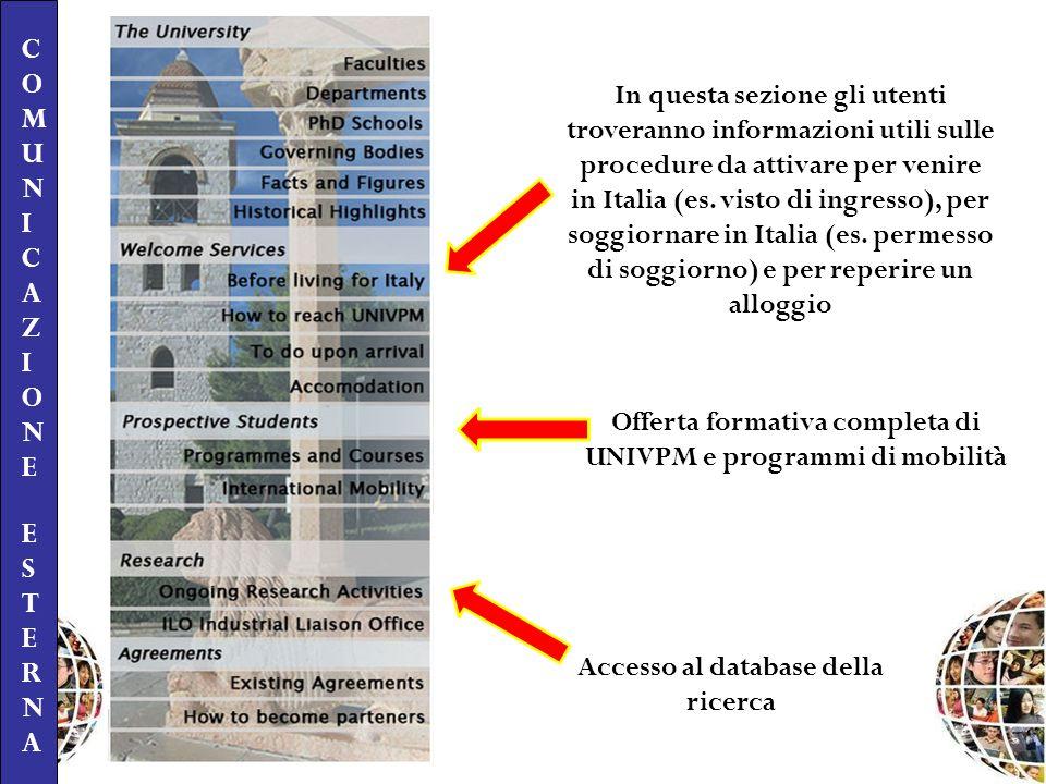 In questa sezione gli utenti troveranno informazioni utili sulle procedure da attivare per venire in Italia (es. visto di ingresso), per soggiornare i